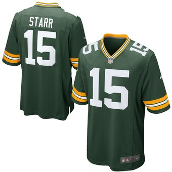 Green Bay Packers Nike Bart Starr Retired Player Game Jersey - Green