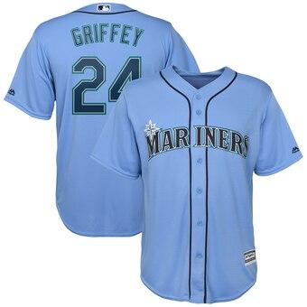 Ken Griffey Jr. Seattle Mariners Majestic Official Cool Base Player Jersey - Light Blue