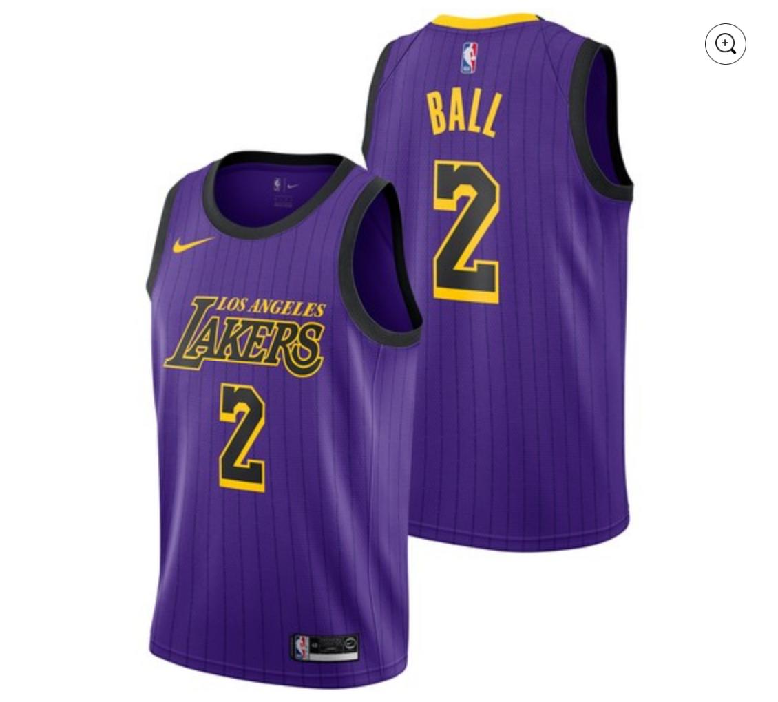 Los Angeles Lakers [City Edition] Jersey – Lonzo Ball – ThanoSport
