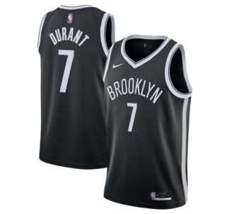 Kevin Durant Brooklyn Nets Nike 2020 21 Swingman Jersey - Black - Icon Edition