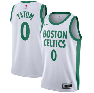 Tatum Boston Celtics Nike 2020 21 Swingman Player Jersey White – City Edition