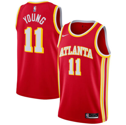Trae Young Atlanta Hawks Nike 2020 21 Jersey - Red - Icon Edition